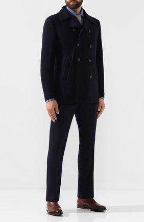 Мужской шерстяные брюки BERWICH темно-синего цвета, арт. VULCAN0/VB8996 | Фото 2