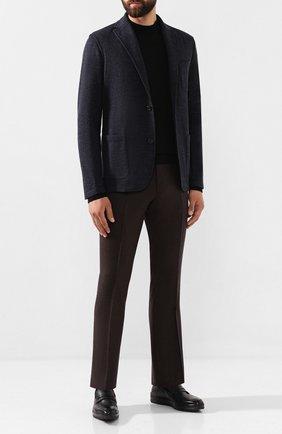 Мужской шерстяные брюки BERWICH темно-коричневого цвета, арт. SC/1 ALC/RD5470 | Фото 2