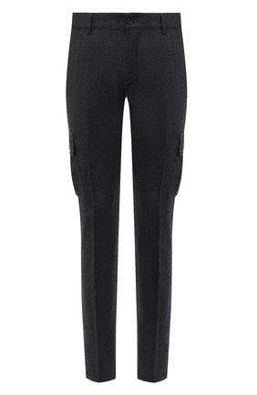 Мужской шерстяные брюки-карго ANDREA CAMPAGNA темно-серого цвета, арт. SC CARG0/RD5470 | Фото 1
