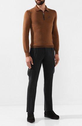Мужской шерстяные брюки-карго ANDREA CAMPAGNA темно-серого цвета, арт. SC CARG0/RD5470 | Фото 2