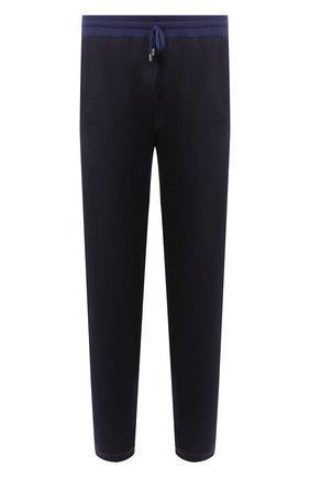 Мужской брюки из смеси шерсти и шелка ANDREA CAMPAGNA темно-синего цвета, арт. WU92-111TSUM   Фото 1