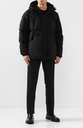 Мужская хлопковый пуховик OUTHERE черного цвета, арт. 92M574-225 | Фото 2