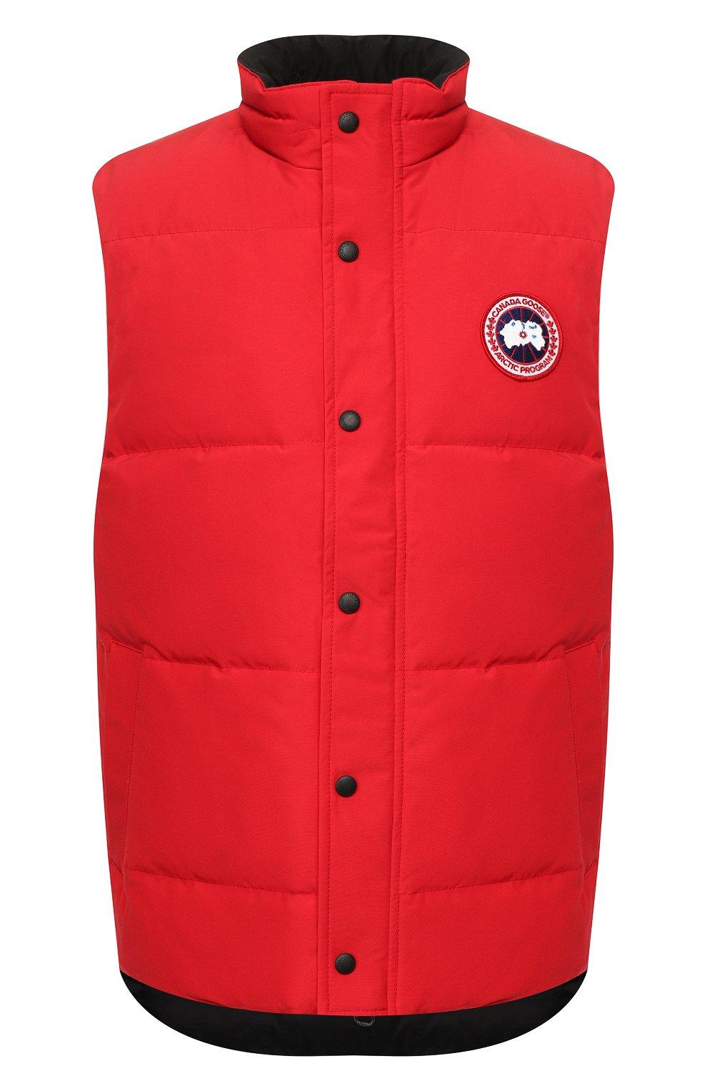 Мужской пуховый жилет garson vest CANADA GOOSE красного цвета, арт. 4151M   Фото 1
