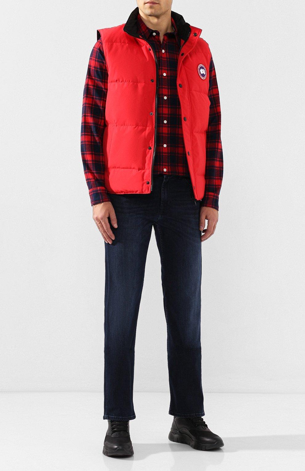 Мужской пуховый жилет garson vest CANADA GOOSE красного цвета, арт. 4151M   Фото 2