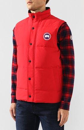 Мужской пуховый жилет garson vest CANADA GOOSE красного цвета, арт. 4151M   Фото 3