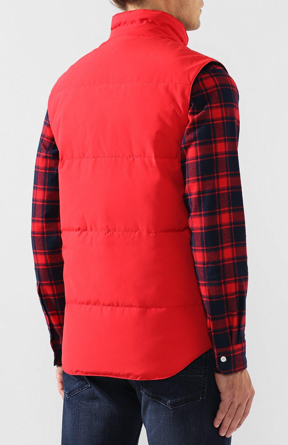 Мужской пуховый жилет garson vest CANADA GOOSE красного цвета, арт. 4151M   Фото 4