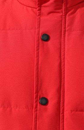 Мужской пуховый жилет garson vest CANADA GOOSE красного цвета, арт. 4151M   Фото 5