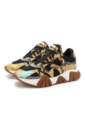 Комбинированные кроссовки Squalo | Фото №1