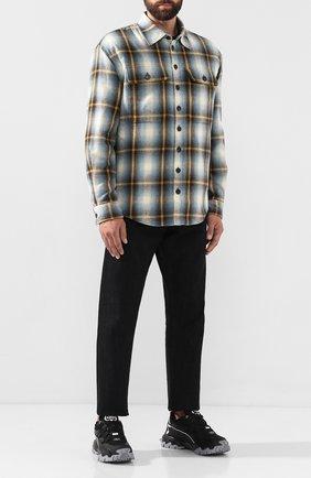 Мужская хлопковая рубашка DSQUARED2 разноцветного цвета, арт. S71DM0323/S52230 | Фото 2