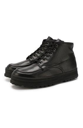 Мужские кожаные ботинки PREMIATA черного цвета, арт. 31530/V0LANAT0/M0NT0NE | Фото 1