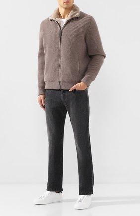 Мужская шерстяная куртка с меховой подкладкой BRIONI бежевого цвета, арт. UMCR0L/08K30 | Фото 2