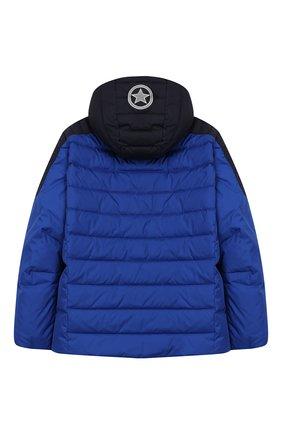 Детский пуховая куртка с капюшоном BOGNER KIDS синего цвета, арт. 35204282 | Фото 2
