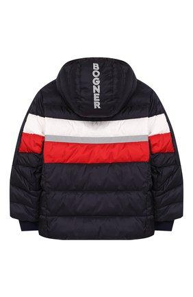 Детского куртка с капюшоном BOGNER KIDS темно-синего цвета, арт. 35004614   Фото 2