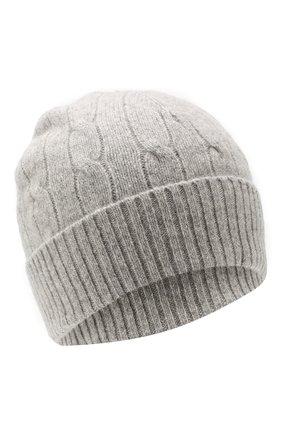 Детского шапка из шерсти и кашемира POLO RALPH LAUREN серого цвета, арт. 323702953 | Фото 1