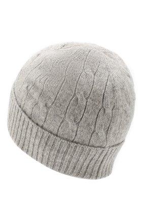 Детского шапка из шерсти и кашемира POLO RALPH LAUREN серого цвета, арт. 323702953 | Фото 2
