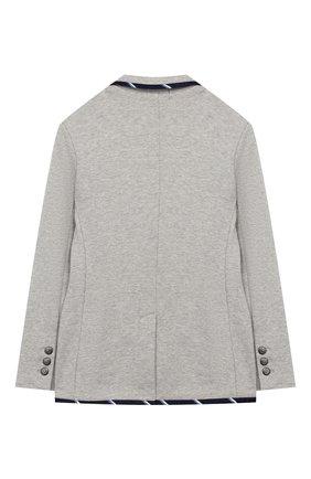 Детский хлопковый пиджак POLO RALPH LAUREN серого цвета, арт. 322749989 | Фото 2