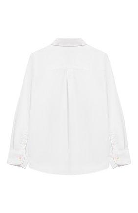 Детская хлопковая рубашка FENDI белого цвета, арт. JMC086/A31W/3A-5A | Фото 2