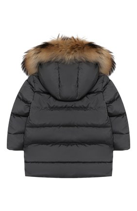 Пуховая куртка с меховой отделкой   Фото №2