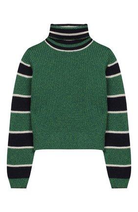 Укороченный свитер из шерсти   Фото №1