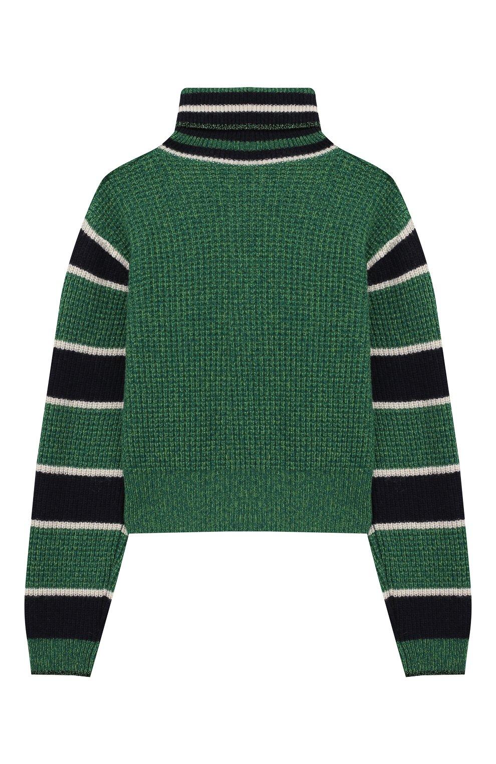 Укороченный свитер из шерсти   Фото №2