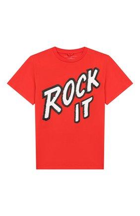Детская хлопковая футболка STELLA MCCARTNEY красного цвета, арт. 566407/SNJ40 | Фото 1