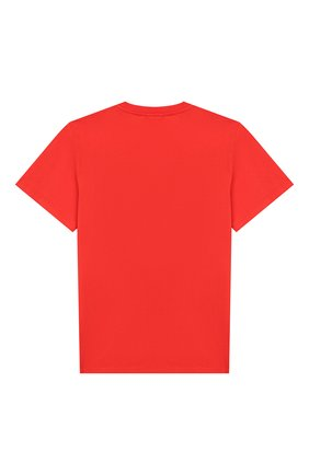 Детская хлопковая футболка STELLA MCCARTNEY красного цвета, арт. 566407/SNJ40 | Фото 2