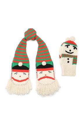 Детский комплект из шарфа и варежек STELLA MCCARTNEY разноцветного цвета, арт. 566400/SNM23 | Фото 1