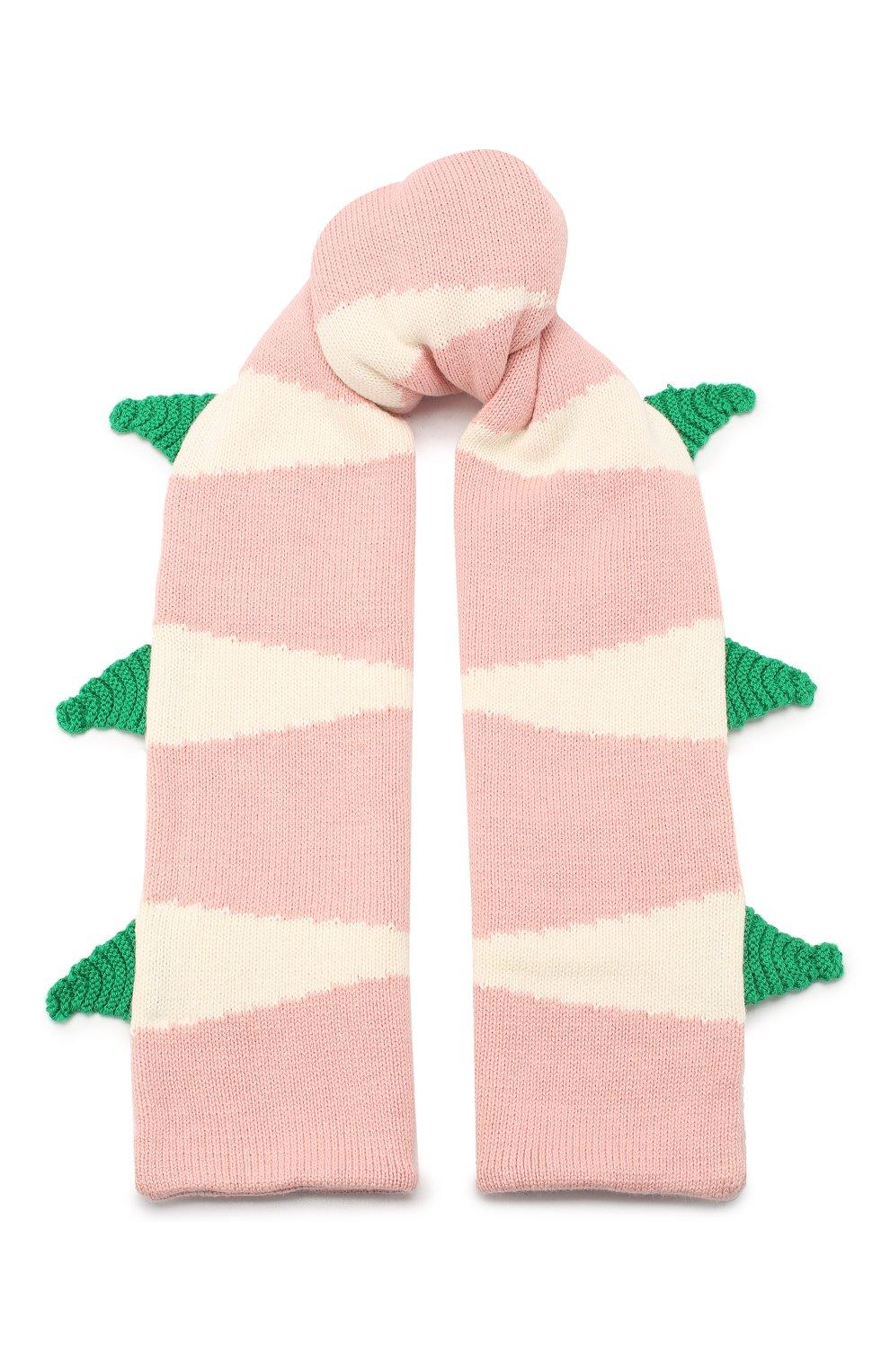 Детский комплект из шарфа и варежек STELLA MCCARTNEY розового цвета, арт. 566337/SNM18 | Фото 2 (Материал: Текстиль, Хлопок; Статус проверки: Проверено, Проверена категория)