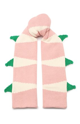 Детский комплект из шарфа и варежек STELLA MCCARTNEY розового цвета, арт. 566337/SNM18 | Фото 2