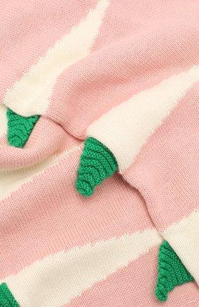 Детский комплект из шарфа и варежек STELLA MCCARTNEY розового цвета, арт. 566337/SNM18 | Фото 3 (Материал: Текстиль, Хлопок; Статус проверки: Проверено, Проверена категория)