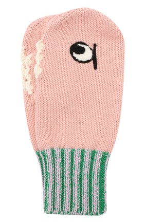 Детский комплект из шарфа и варежек STELLA MCCARTNEY розового цвета, арт. 566337/SNM18 | Фото 4 (Материал: Текстиль, Хлопок; Статус проверки: Проверено, Проверена категория)
