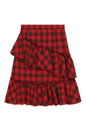 Детская хлопковая юбка PHILOSOPHY DI LORENZO SERAFINI KIDS красного цвета, арт. PJG007/CQ281/UHUNI/XXS-XS | Фото 2