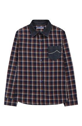Детская хлопковая рубашка JACOB COHEN коричневого цвета, арт. J8001 T-10003-W1   Фото 1