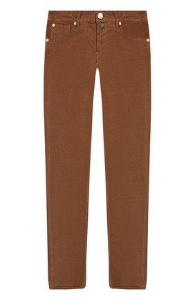 Детские хлопковые брюки JACOB COHEN бежевого цвета, арт. 688 J-20004   Фото 1