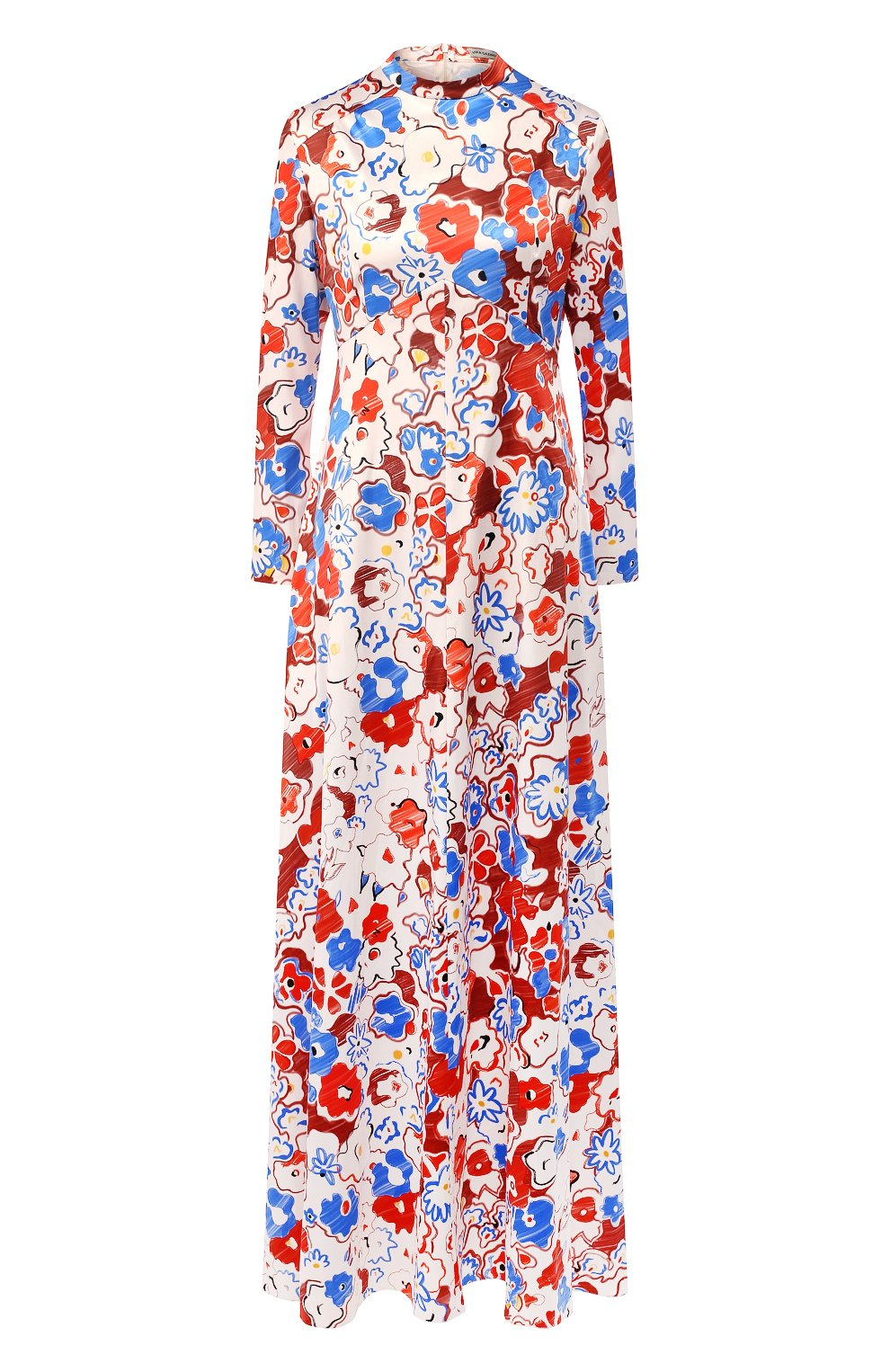 Женское платье с принтом VIKA GAZINSKAYA разноцветного цвета, арт. FW19-1364 | Фото 1