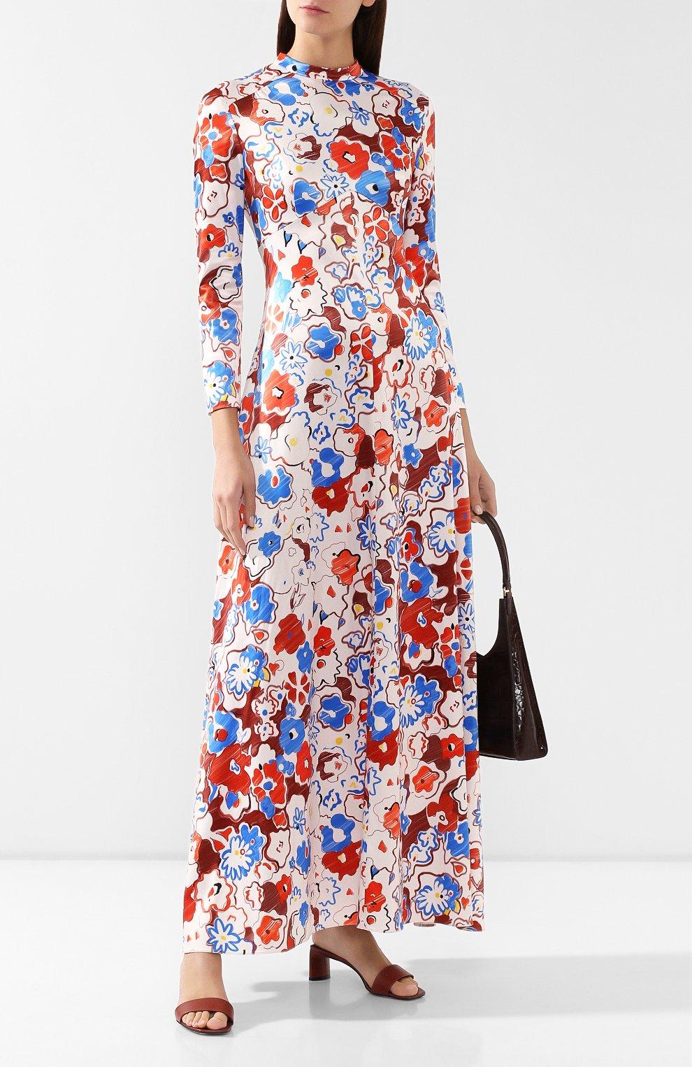 Женское платье с принтом VIKA GAZINSKAYA разноцветного цвета, арт. FW19-1364 | Фото 2