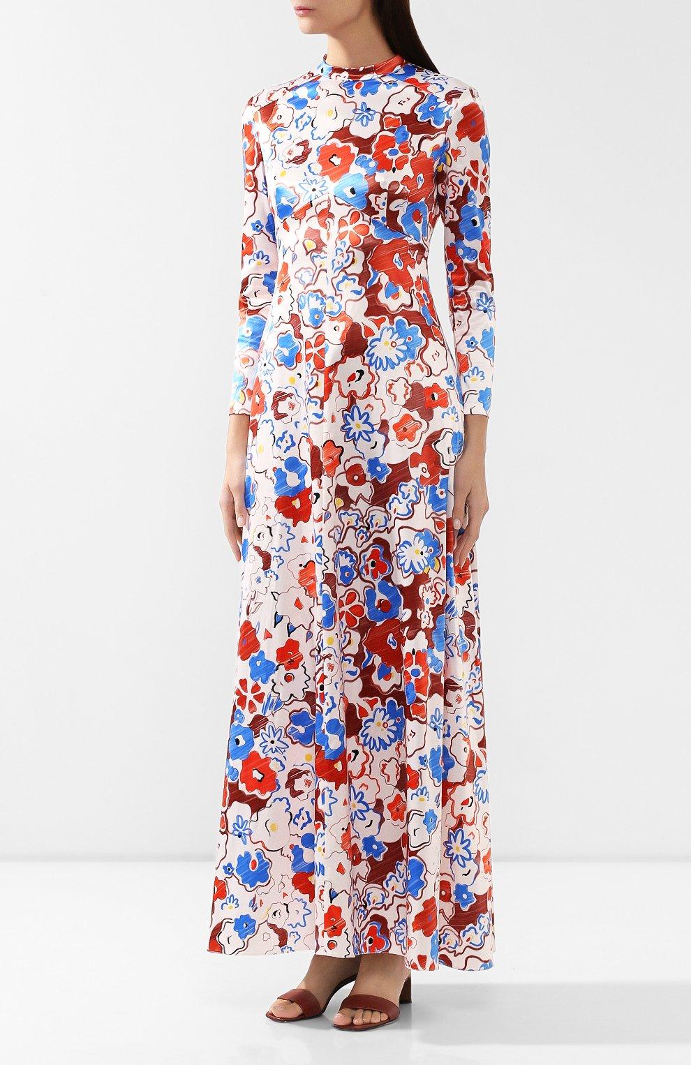 Женское платье с принтом VIKA GAZINSKAYA разноцветного цвета, арт. FW19-1364 | Фото 3