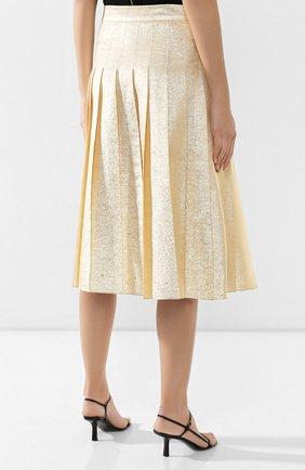 Женская шелковая юбка VIKA GAZINSKAYA золотого цвета, арт. FW19-1824   Фото 4
