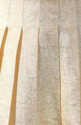 Женская шелковая юбка VIKA GAZINSKAYA золотого цвета, арт. FW19-1824   Фото 5