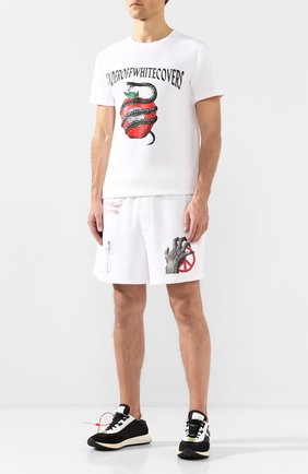 Хлопковые шорты Off-White X Undercover | Фото №2