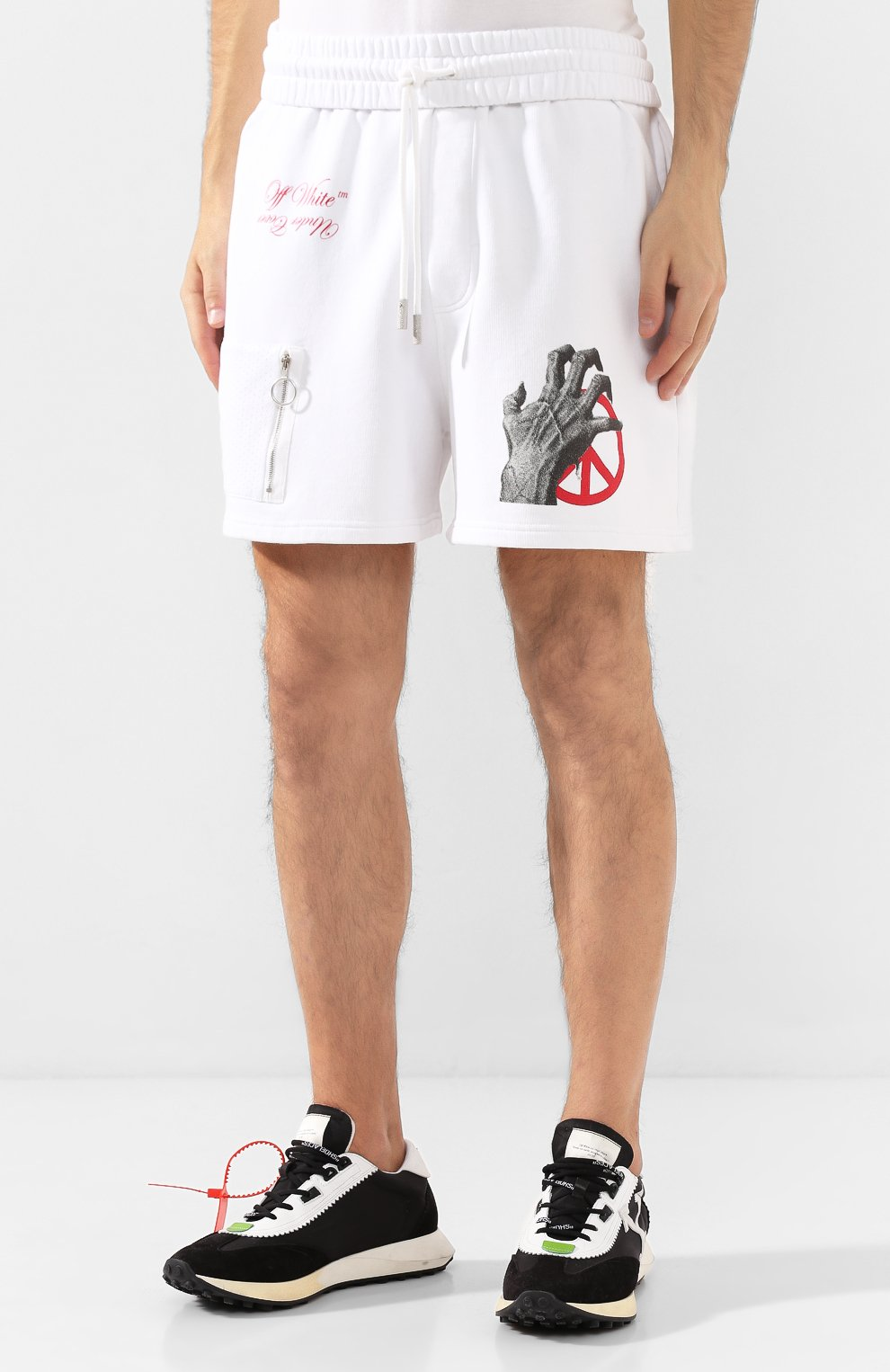 Хлопковые шорты Off-White X Undercover | Фото №3