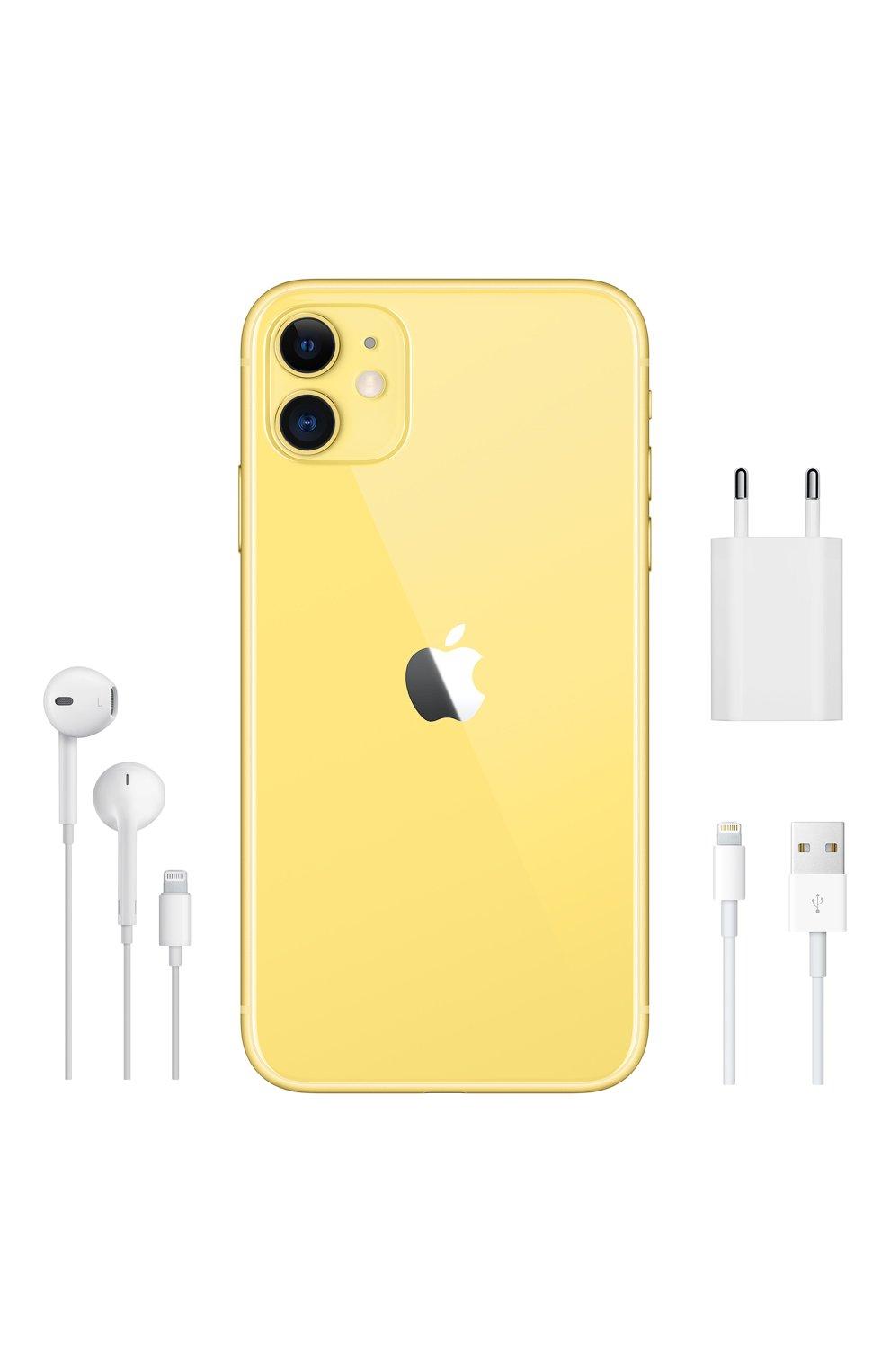 Мужской iphone 11 256gb yellow APPLE  yellow цвета, арт. MWMA2RU/A   Фото 5