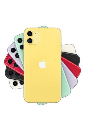 Мужской iphone 11 128gb yellow APPLE  yellow цвета, арт. MWM42RU/A | Фото 1