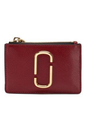 Женский кожаный футляр для кредитных карт MARC JACOBS (THE) бордового цвета, арт. M0013359 | Фото 1