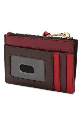 Женский кожаный футляр для кредитных карт MARC JACOBS (THE) бордового цвета, арт. M0013359 | Фото 2