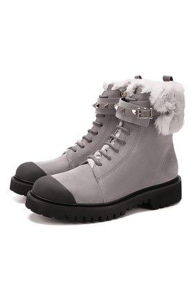 Замшевые ботинки Valentino Garavani Rockstud | Фото №1