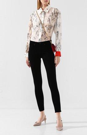 Женская кожаные туфли valentino garavani rockstud VALENTINO бежевого цвета, арт. RW2S0H14/VNW | Фото 2