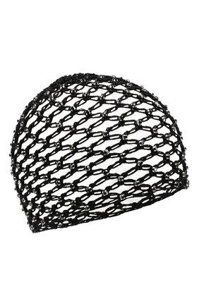 Женский хлопковая шапка SAINT LAURENT черного цвета, арт. 593583/3YB56 | Фото 1