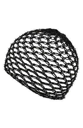 Женский хлопковая шапка SAINT LAURENT черного цвета, арт. 593583/3YB56 | Фото 2