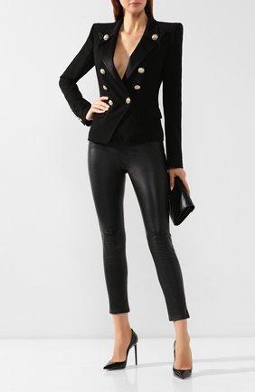 Женский двубортный жакет BALMAIN черного цвета, арт. SF17437/207D | Фото 2